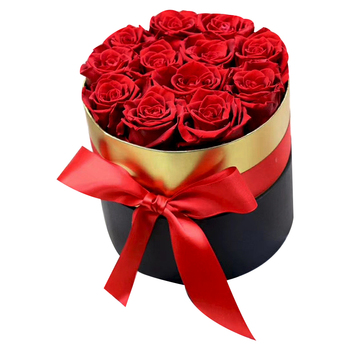 Hot Sale Valentine's Day Eternal Flower Red Rose Gift Box Essential Wedding Gift Holding Flowers