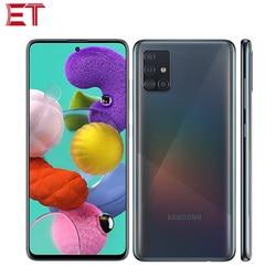 Абсолютно Новый Samsung Galaxy A51 A515F/DSN мобильный телефон 6 ГБ/8 ГБ ОЗУ 128 Гб ПЗУ OctaCore 6,5 дюйм1080x2400 4000 мАч 4 камеры NFC Android10.0