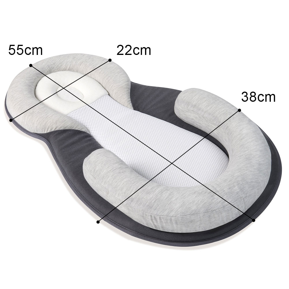 Portable Cradle Baby Nest Soft Cotton Nursery Babynest Folding Montessori Bed For Kids Newborns Safety Travel Washable Baby Bed in Baby Cribs from Mother Kids
