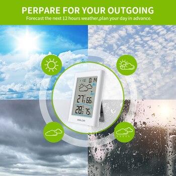 Baldr  Weather Station LCD Thermometer Hygrometer Meter Forecast Sensor Indoor Outdoor Sensor 5