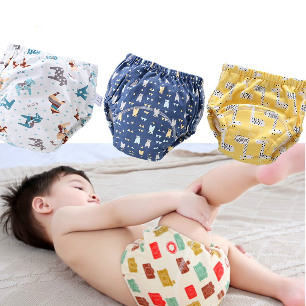 6Layer Waterproof  Reusable Baby Infant Panties Nappy Nappies Changing Child Cloth Pants Training Cotton Underwear Shorts Diaper