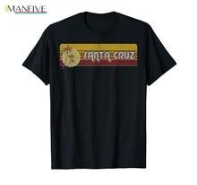 Santa Cruz California Retro Sunset Shirt new Men T Fashion Brand Fitness Slim Fit Political Tee Shirts