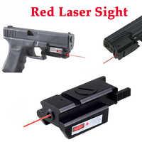 Mini Red Dot Laser Anblick Tactical Jagd Optics Anblick Glock 17 19 22 23 31 32 Pistole gun Sight Umfang 20mm Schiene