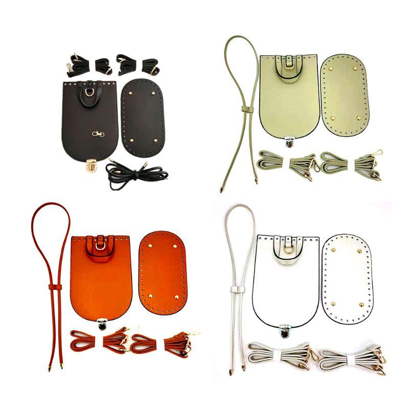6pcs Leather Parts Set Sewing Accessories For DIY Shoulder Bucket Bag Handbag