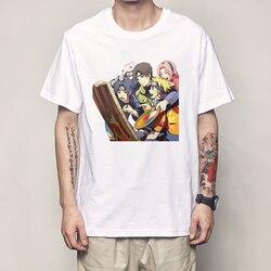 Naruto T koszula moda lato mężczyzna T koszula Naruto koszula klasyczna postać z anime obraz mężczyźni topy koszulki Harajuku Streetwear T Shirt 2