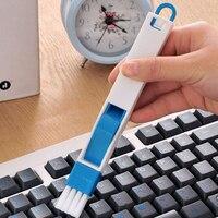 Cepillo para limpieza de teclado 2 en 1 para puerta de ventana multipropósito, herramienta para quitar el polvo, cepillo para ventana de Color negro y azul para espacios estrechos