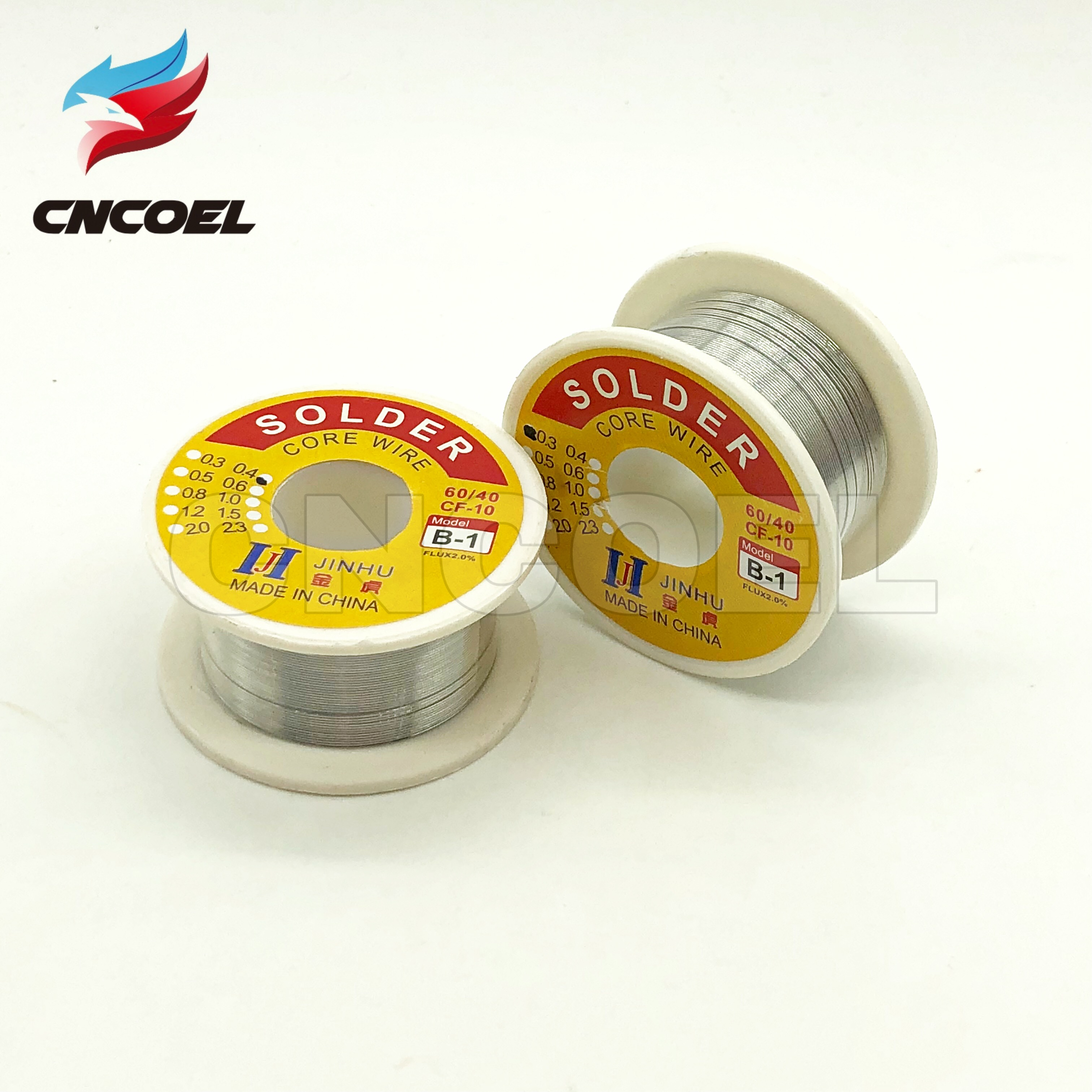 0.3/0.4MM <font><b>60/40</b></font> FLUX 2.0% Tin Lead Tin Wire Melt Rosin Core <font><b>Solder</b></font> Soldering Wire Roll image
