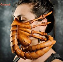 Cosmask Halloween Scorpion Mask Anime Mortal Kombat Scorpion Resin Cosplay Face Worm Mask Latex Mask For Party