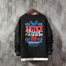 justice letter print Men Women Sweatshirt Casual Hooded Printed Popular Fleece Man Homme Brand Clothing