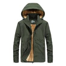 winter coat man Jacket Winter Plus Velvet Thick Warm Hooded Waterproof clothes Mens ZD868