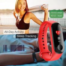 цена на 2019 New Smart Band Watch Bracelet Fitness Tracker Pedometer Blood Pressure Heart Rate Monitor Waterproof Wristband