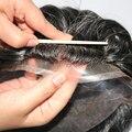 Парик с натуральной линией волос Q6, на французской сетке, передний парик с кожей, парик без повреждений, 100% натуральные человеческие волосы, ...