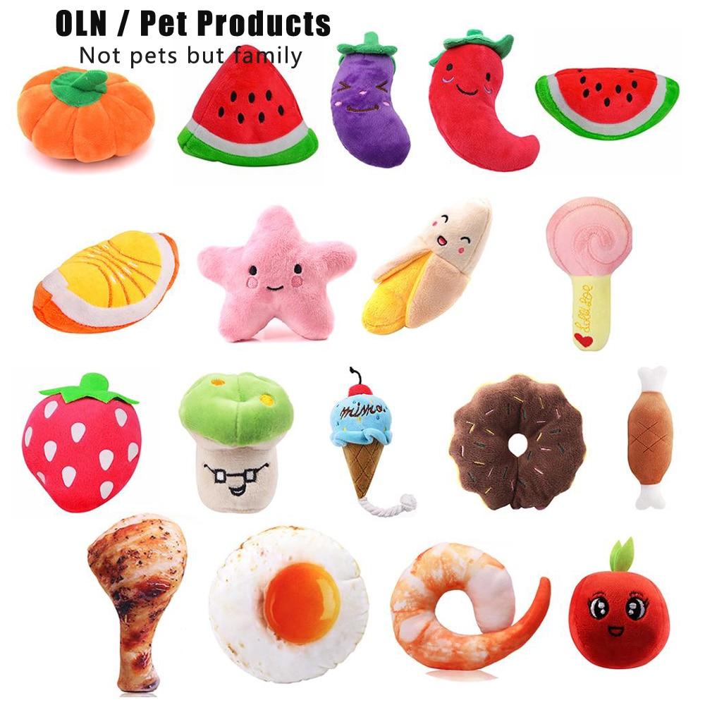 Животные игрушки Мультяшные собачки мягкие пищащие игрушки для домашних животных милая плюшевая головоломка для собак кошка Жевательная пищалка пищащая игрушка для домашних животных