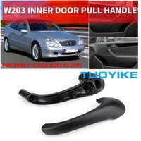 Zwart Grijs Beige W203 Auto Front Links/Rechts Inner Interieur Deur Pull Handle Trim Cover Armsteun Voor Benz W203 C-Klasse 2000-07
