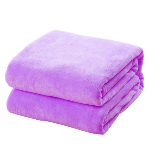 Solid Warm Micro Plush Fleece Blanket Throw Rug Sofa Bedding Soft Pet BlanketHOT