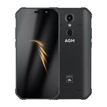 "AGM A9 64G สมาร์ทโฟนโทรศัพท์ Android 8.1 Co Branding 5.99 ""FHD5400mAh IP68 ลายนิ้วมือประเภท C NFC Quad กล่องลำโพง"