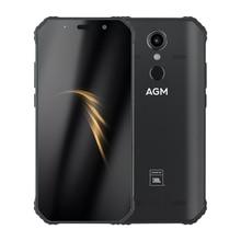 """AGM A9 アンドロイド 8.1 頑丈な電話共同ブランディング 5.99 """"FHD 4 グラム 64 グラム 5400 2600mah IP68 スマートフォン指紋タイプ C NFC クアッドコアボックススピーカー"""