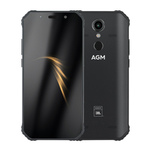 "AGM A9 Android 8.1 Rugged Phone Co Branding 5.99"" FHD 4G 64G 5400mAh IP68 Smartphone Fingerprint Type C NFC Quad Box Speakers"