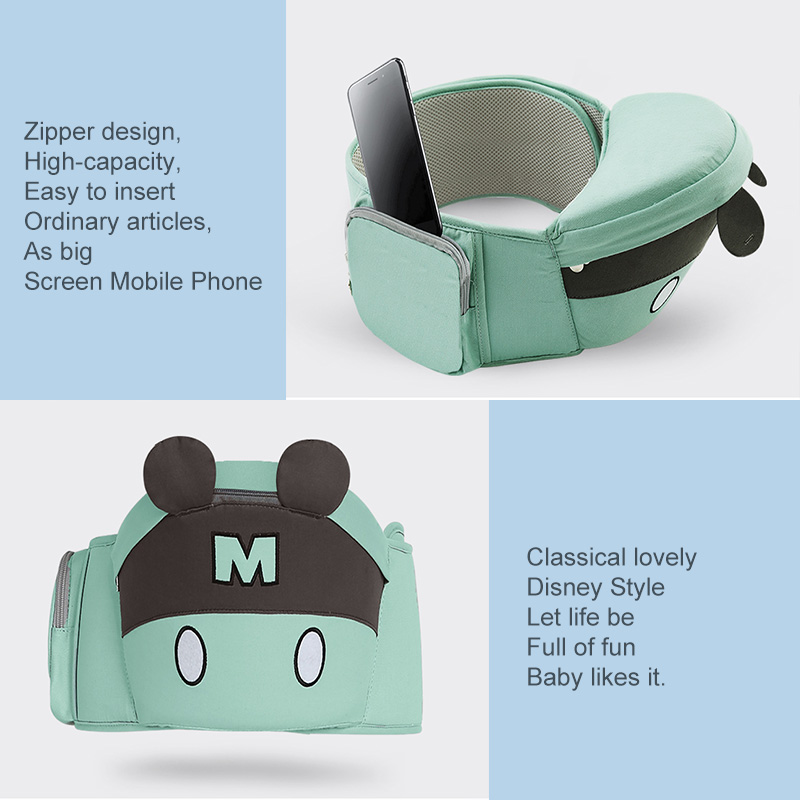 Image 4 - Disney 0 36 Months Bow Breathable Front Facing Baby Carrier Hipseat 20kg Infant Comfortable Sling Backpack Pouch Wrap  Carriers-in Backpacks & Carriers from Mother & Kids