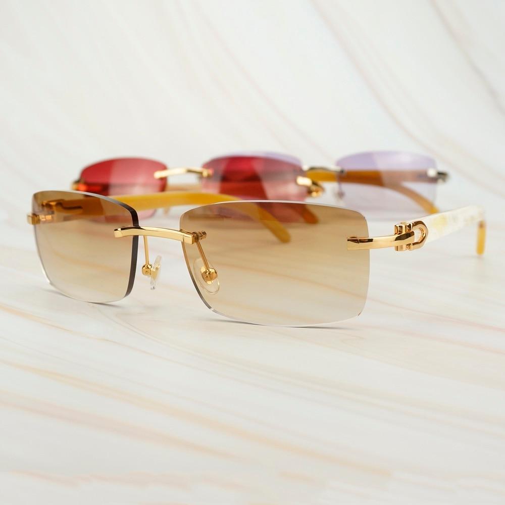 Trendy Luxury Sunglasses Men Designer Sunglass For Women Buffalo Horn Glasses Frame For Driving Fishing Carter Mens Sun Glasses