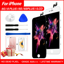 For iPhone 5 6 S Plus LCD Display With Force Touch Screen Digitizer Assembly Grade AAA No Dead Pixel Pantalla Ecran