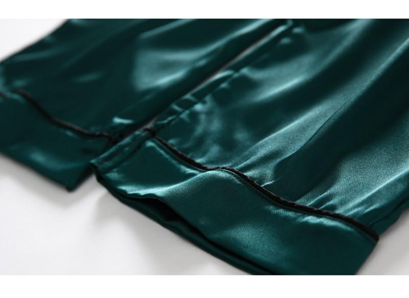 H3942aa1807244ca1ad156dd61616efe5i JULY'S SONG 7 Piece Women Pajamas Set Stain Soft Pyjama Spring Summer Female Nightwear Solid Faux Silk Shorts Homewear 2020