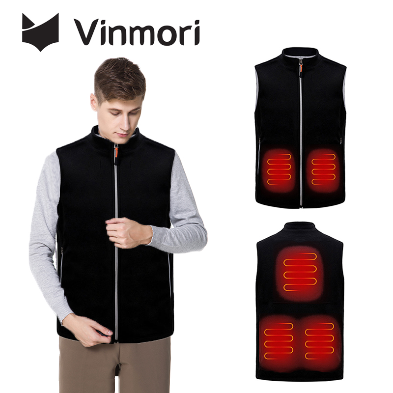 Vinmori Heating Vest Winter Outdoor USB Infrared Heated Jacket Electric Clothing For Sports Hiking Climbing Ski Self Heated Vest