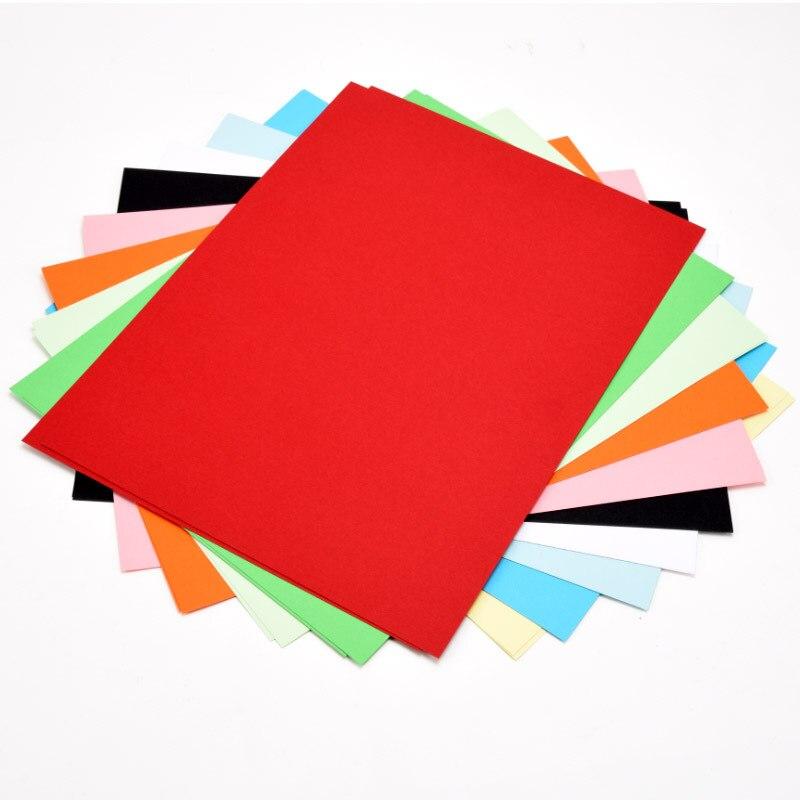 Yuan Hao 4K Color Handmade Cardboard DIY Art Paper Thick Card Copy Paper 20 Color Dress