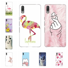 For Sony Xperia L3 Case Ultra-thin Soft TPU Silicone Cover Flamingo Patterned Bumper Capa