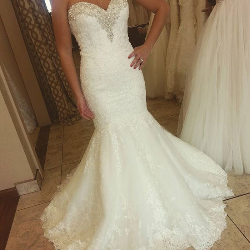 Vintage Mermaid Sweetheart Long Lace Bridal Gown Crystal Beading Vestido De Noiva 2018 Casamento Mother Of The Bride Dresses