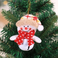 Christmas Gift Decoration Wooden Tag Santa Claus Tree Snowman Elk Doll Hanging Ornaments Creative Bell PendantCM