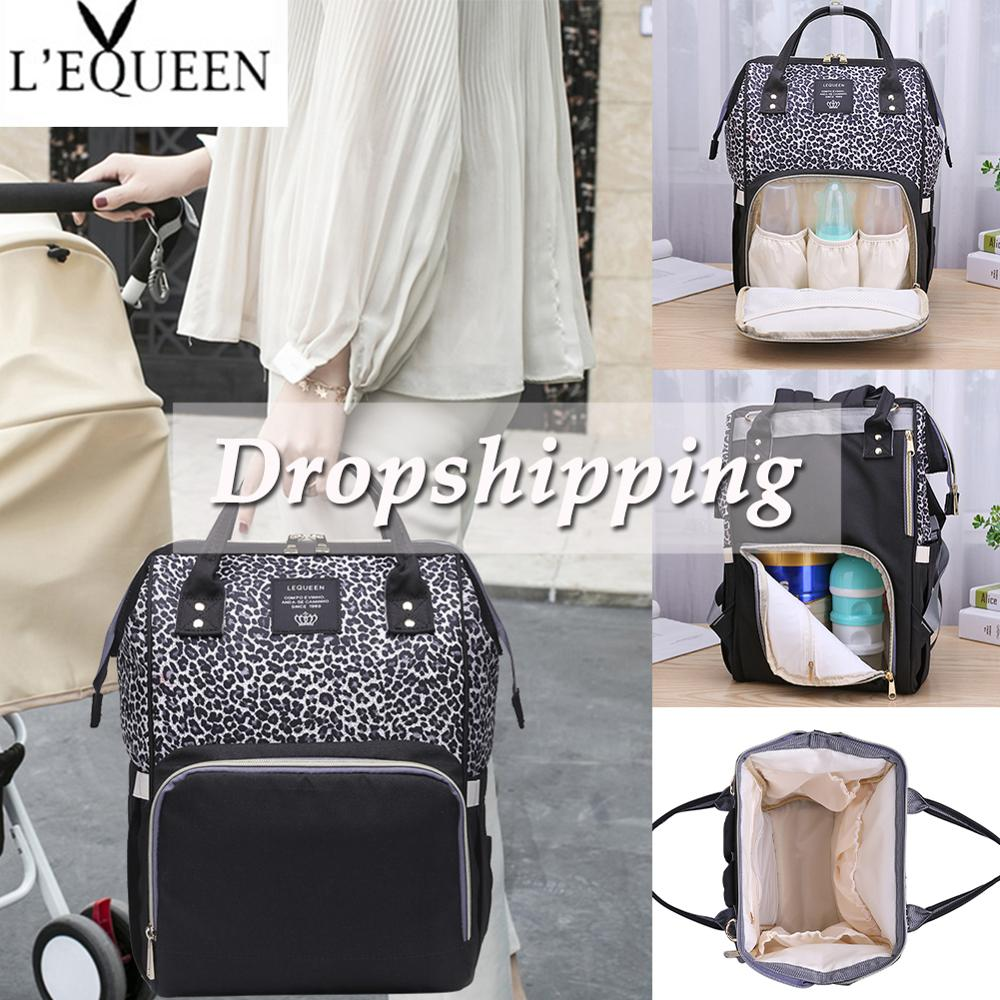 Diaper Bags Fashion Mummy Maternity Diaper Backpack Large Capacity Baby Nappy Bag Waterproof Newborn Care Backpacks Travel Bag