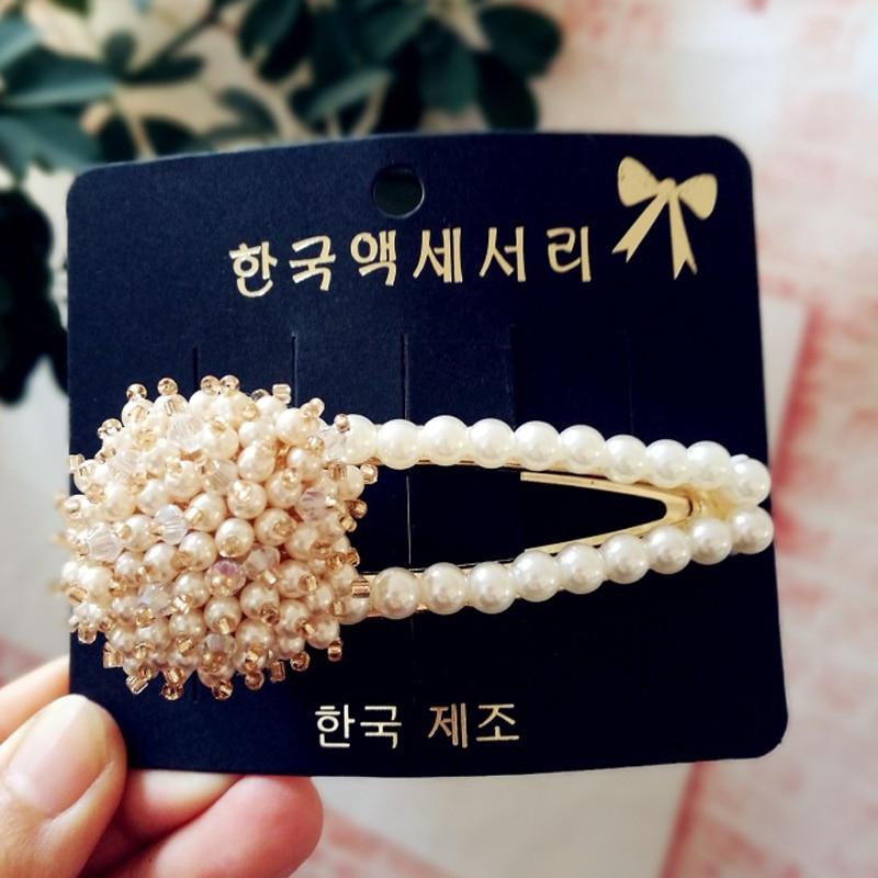 Купить с кэшбэком Pearl Diamond Flower Women Hair Clips  Golden Combine Phnom Penh Mix Hairpin Rhinestone Hair Accessories