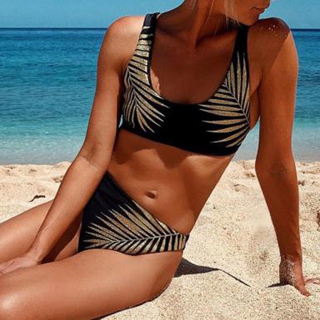Best Sales Women Hot Sexy Underwear Leaves Printing Push-Up Padded Lengeries 2019 Fashion Femme Underwear Set Wire Free Intimate