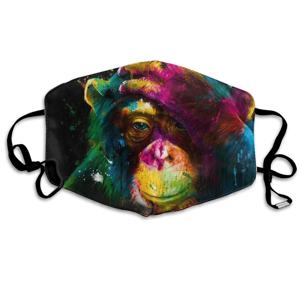 Mouth Mask for Daily Dress Up, Doodle Monkey Anti-dust Mouth-Muffle, Washable Reusable Holiday Half Face Masks for Mens and