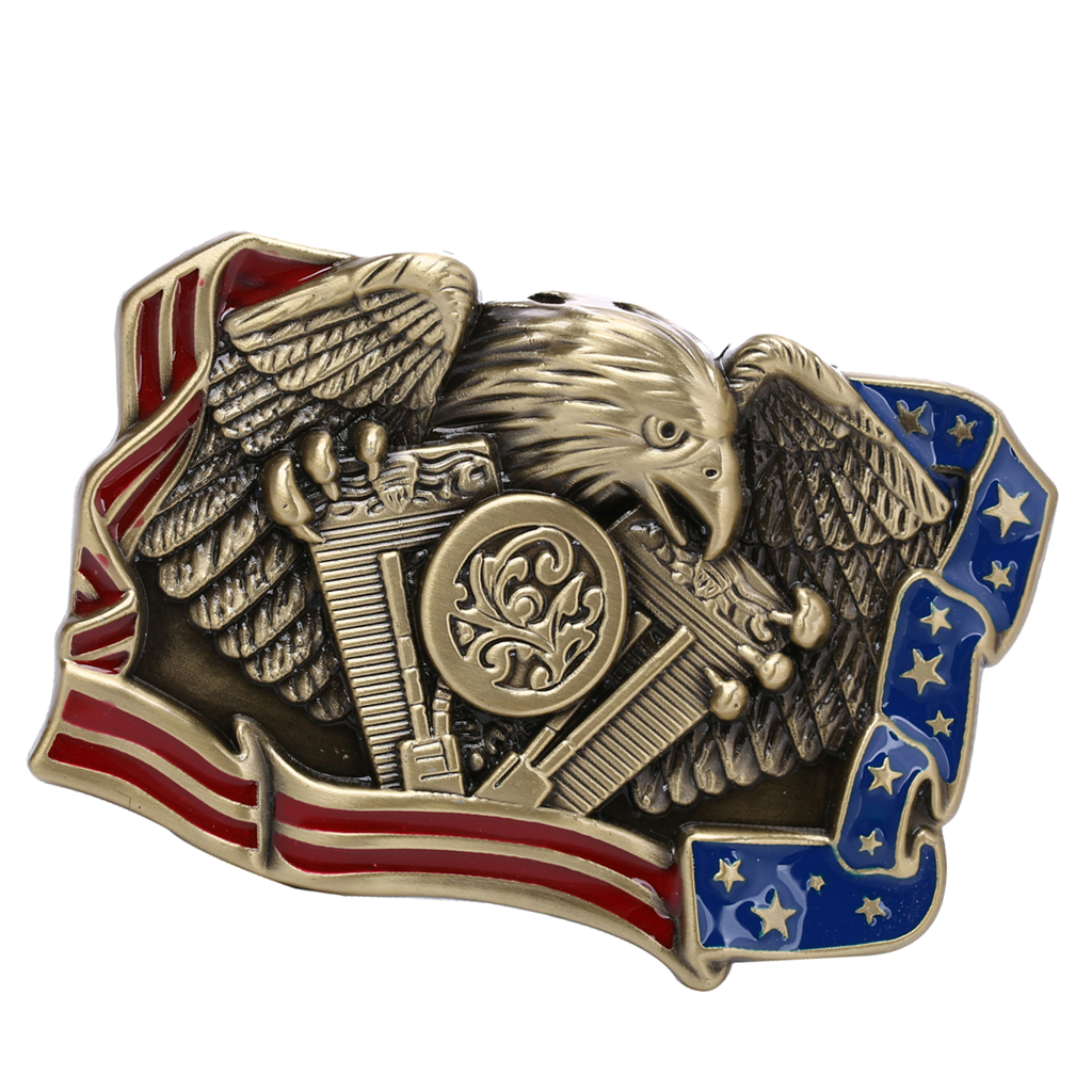 Novelty Western Cowboy Eagle Belt Buckle Retro Clothing Jewelry Replacements Retro Eagle Totem Pattern Western Style Belt Buckle