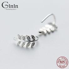 Ginin 925 стерлингового серебра серьги гвоздики для женщин модные