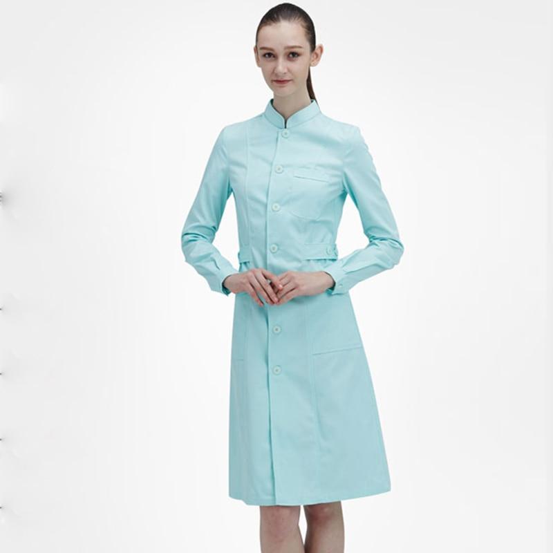 Autumn Winter Ladies Medical Robe Medical Lab Coat Hospital Doctor Slim Multicolour Nurse Uniform Medical Gown Overalls