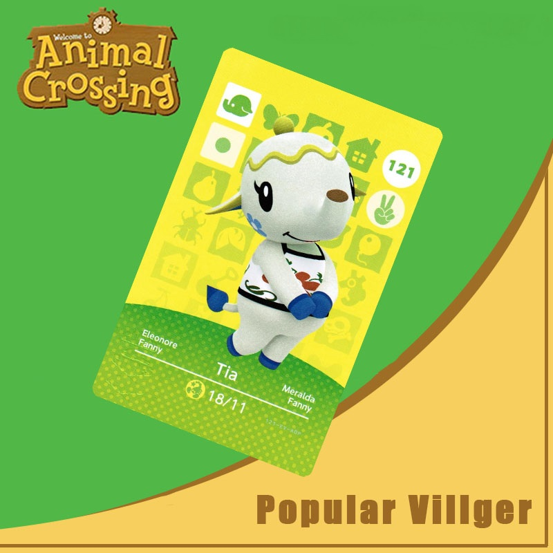121 Animal Crossing Amiibo Card Tia Amiibo Card Animal Crossing Series 2 Tia Nfc Card Work For Ns Games Dropshipping