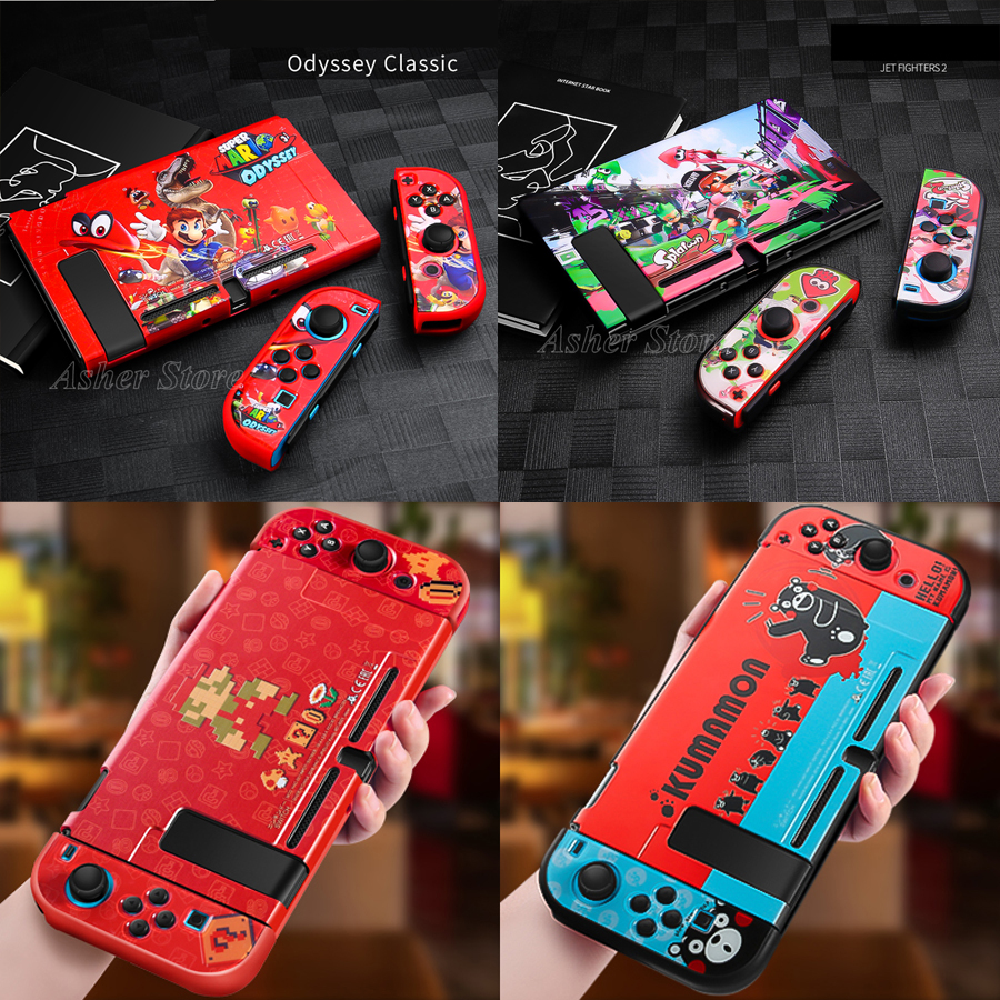 Nintend Switch Console Case Colorful Protective Shell Cool Anti-Slip Cover for Nintendoswitch Nintendo Switch NS Accessories(China)