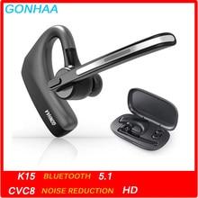 Fones de ouvido sem fio bluetooth fone de ouvido com cvc8.0 função de redução de ruído de duplo microfone adequado para telefones inteligentes