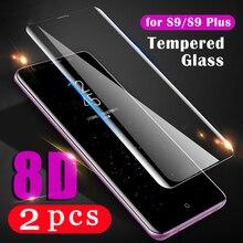 2 sztuk pokrywa dla samsung Galaxy s20 Ultra S10 lite S10e S9 S8 plus S7 krawędzi szkło hartowane folia ochronna telefon...