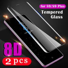2Pcs cover for samsung Galaxy s20 Ultra S10 lite S10e S9 S8 plus S7 edge tempered glass protective film phone screen protector