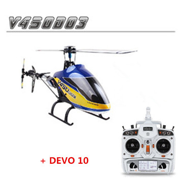 Oryginalny Walkera V450D03 z Devo 10 nadajnik 6CH 3D 6-axis-Gyro Flybarless RC helikopter z akumulator i ładowarka RTF