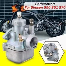 16N1 11 Passend Vergaser für Simson S50, S51 S70 16mm Spezifische Leistung Vergaser Motor Motor Carb Aluminium Silber