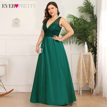 Plus Size Christamas Prom Dresses Ever Pretty EP00839 V-Neck Sequined Ruched Elegant Holiday Party Dress For Girls Gala Jurken 3