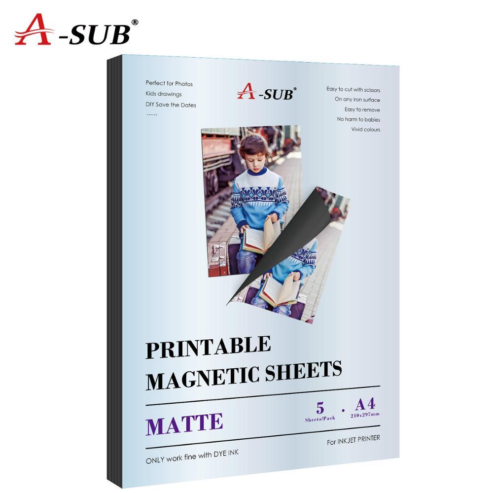Matte Magnetic Inkjet Sticker Photo Paper A4 For Inkjet Printer