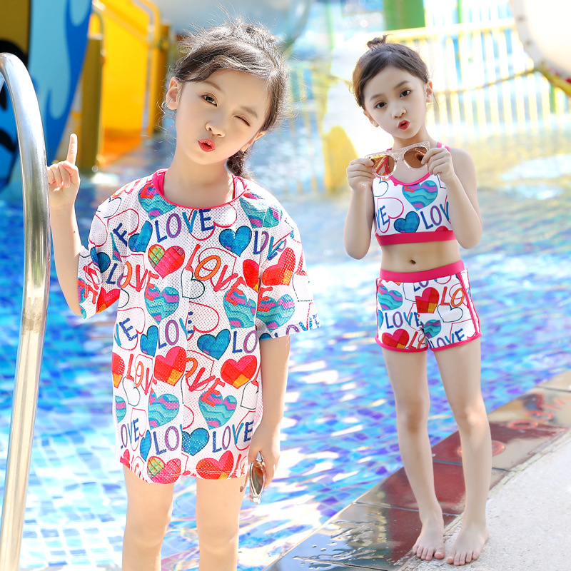 Youyou KID'S Swimwear WOMEN'S Swimsuit Sports Split Type Set Baby Bathing Suit Cute GIRL'S Swimsuit Big Boy