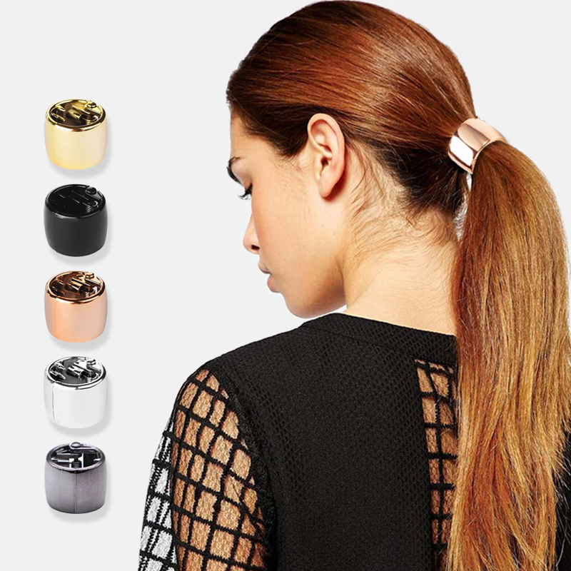Wild Fashion Solid Toothed Imitation Metal Ring Hair Circle Punk Style Ponytail Holder Hair Accessories Hair Ring