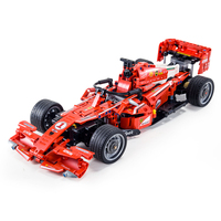 LegoEDS Technic Remote Control Ferraried Formula one Racing Car Motor Bricks Model Kit Building Blocks For Kids Educational Toys